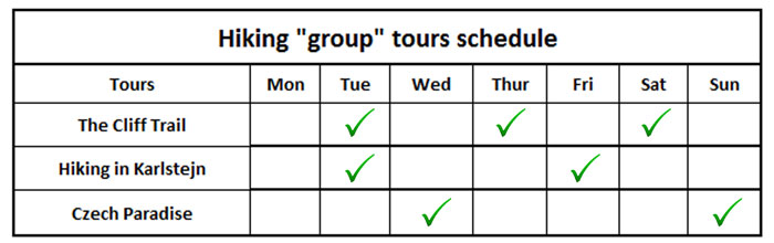 Hiking-group-tour-schedule