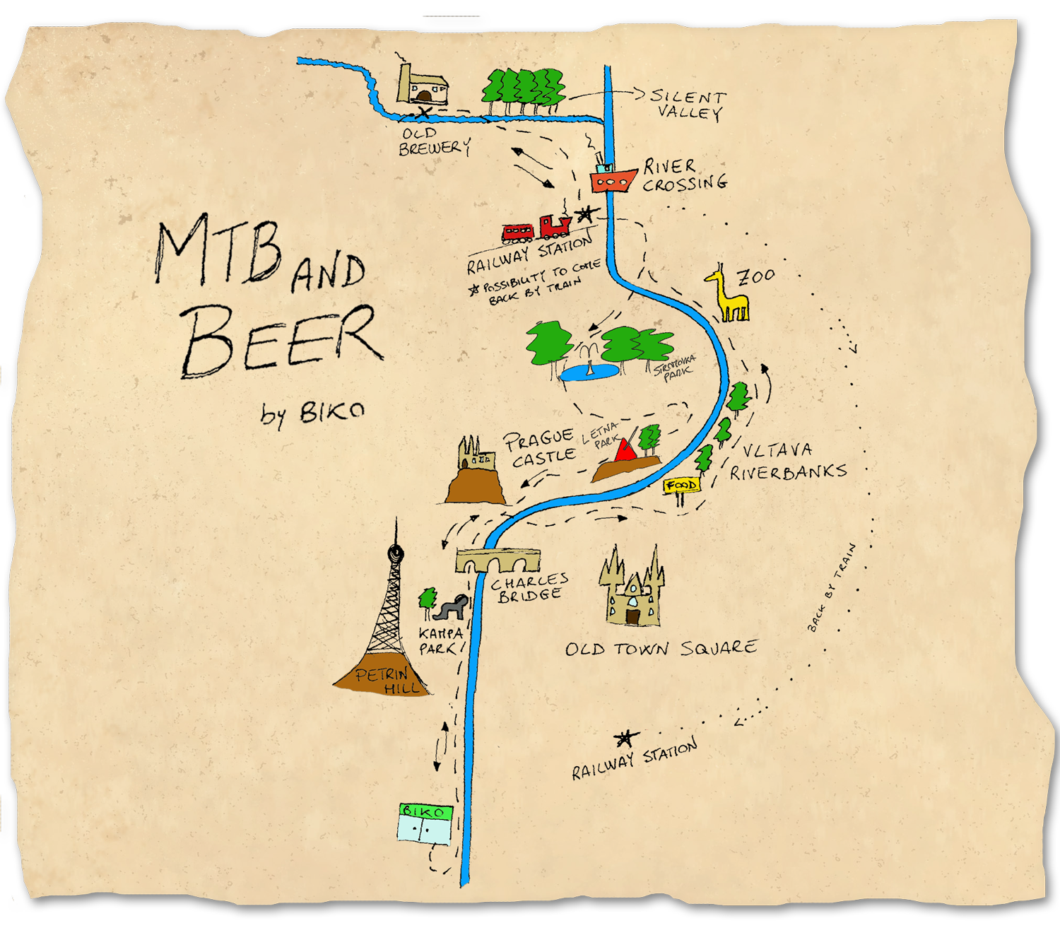 MTB-and-Beer--easy-bike-tour-map