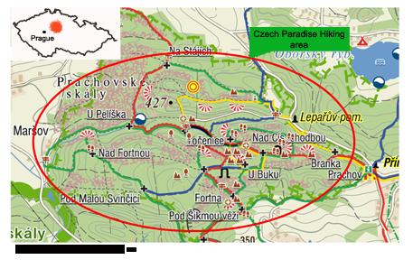 Mappa-Czech-Paradise-Hiking-tour