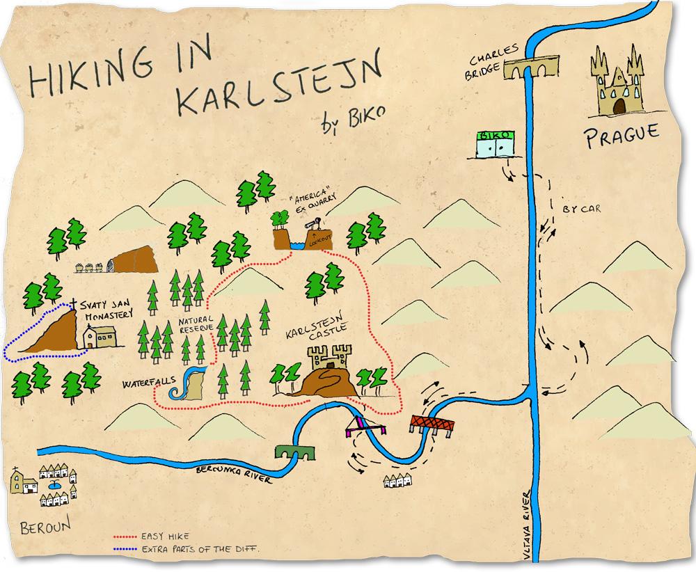 Hiking tour to Karlstejn castle