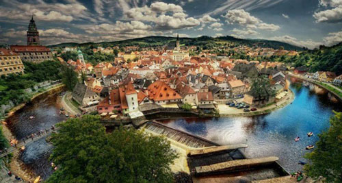 Prague-Vienna road bike holiday - cesky Krumlov